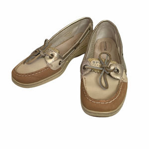 SPERRY Topsiders SZ 8.5 gold Angelfish boat shoes